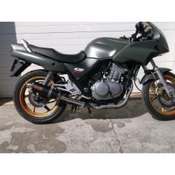 Tłumik 40 cm z poszyciem aluminiowym malowany proszkowo na czarno Honda CB 500