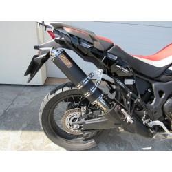 Tłumik owalny 50 cm ze stali nierdzewnej malowany proszkowo na czarno Honda CRF1000L AfricaTwin