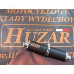 Tłumik owalny 50 cm ze stali nierdzewne malowany proszkowo na czarno kolektor DECAT Honda Hornet 600 PC41
