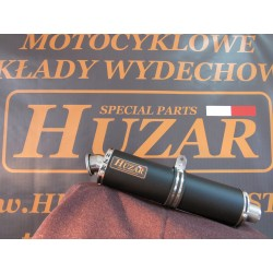 Kompletny układ wydechowy wykonany w całości ze stali nierdzewnej  z owalnym tłumikiem 50 cm czarnym -Honda Cbr 125 R