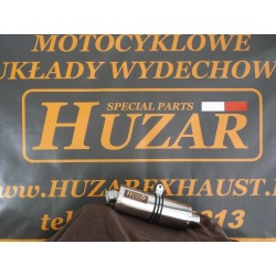 Tłumik owalny 40cm ze stali nierdzewnej polerowany Kawasaki Z 750 (07-12)